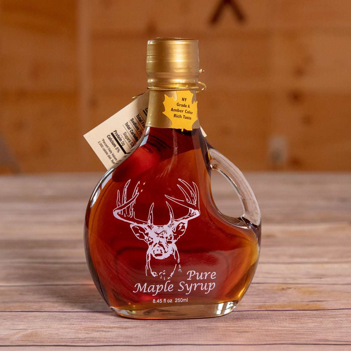 Bechard's PURE Maple Syrup Decorative Glass Jar 8.5 oz - Buck Basquaise