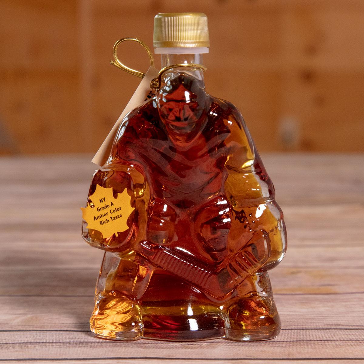Bechard's PURE Maple Syrup Decorative Glass Jar 6.8 oz - Hockey Goalie