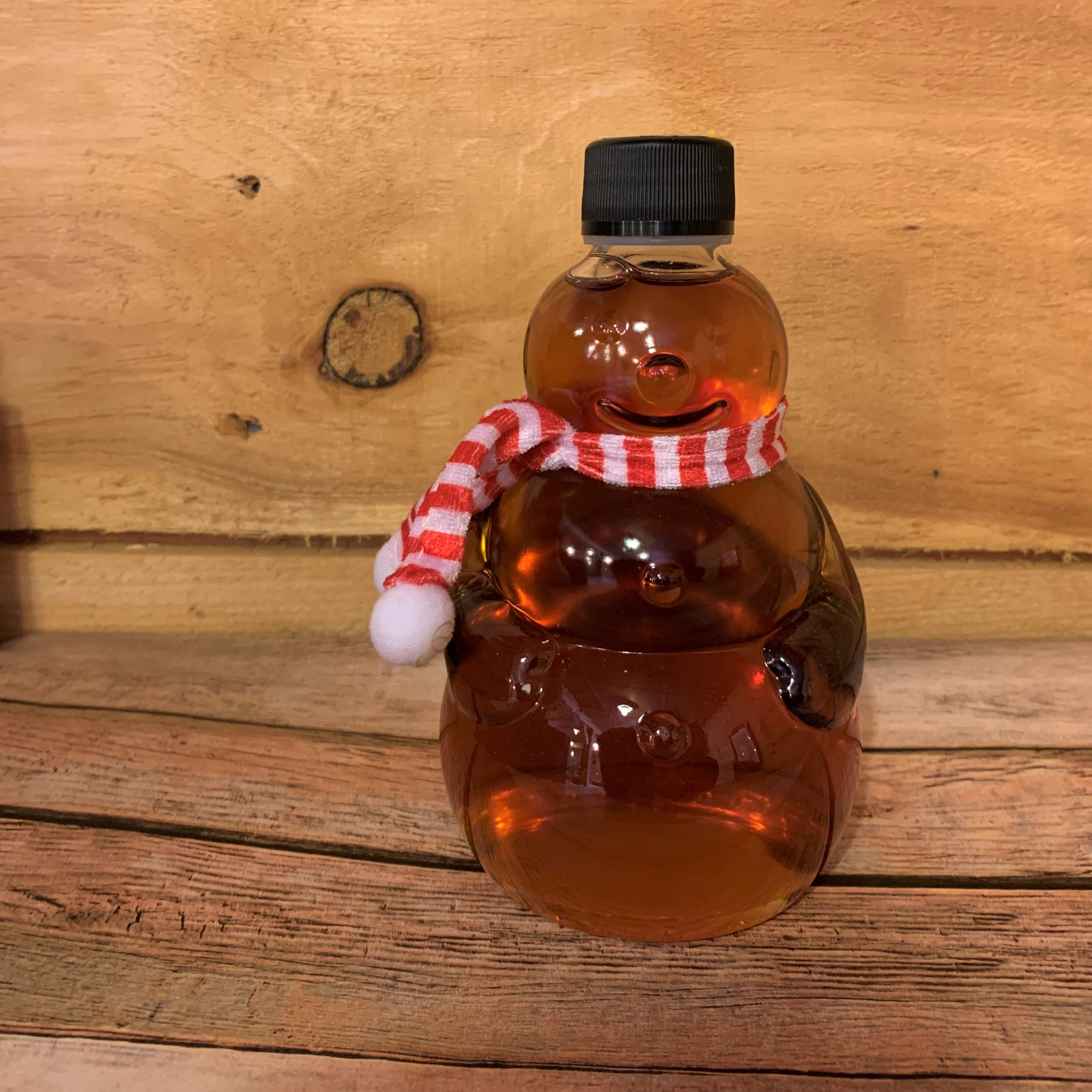 Bechard's PURE Maple Syrup Decorative Glass Jar 12.6  oz - Snowman