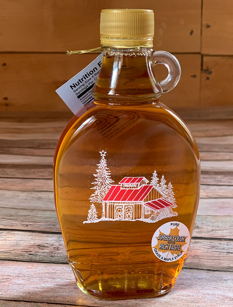 Bechard's PURE Maple Syrup Decorative Glass Jar 8.45 oz - Holiday Gifts