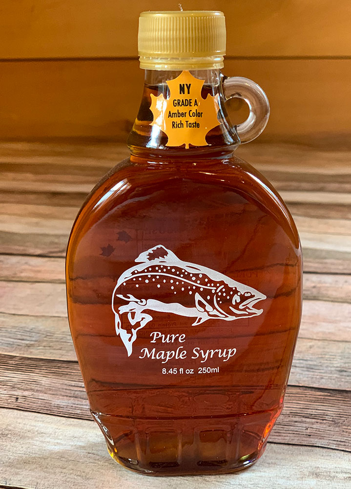 PURE Maple Syrup Decorative Glass Jar 8.5 oz - Trout