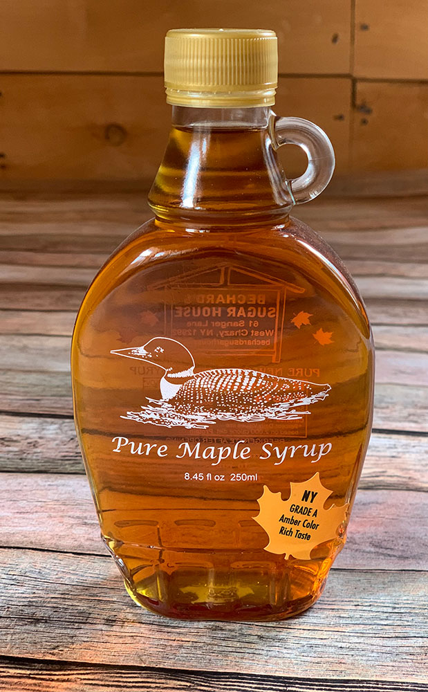 Bechard's PURE Maple Syrup Decorative Glass Jar 8.5 oz - Loon