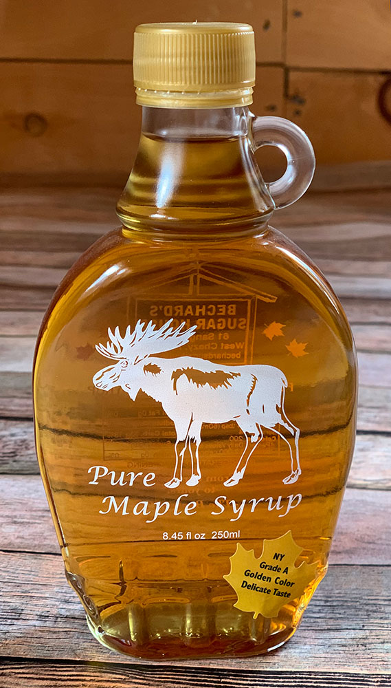 Bechard's PURE Maple Syrup Decorative Glass Jar 8.45 oz - Moose