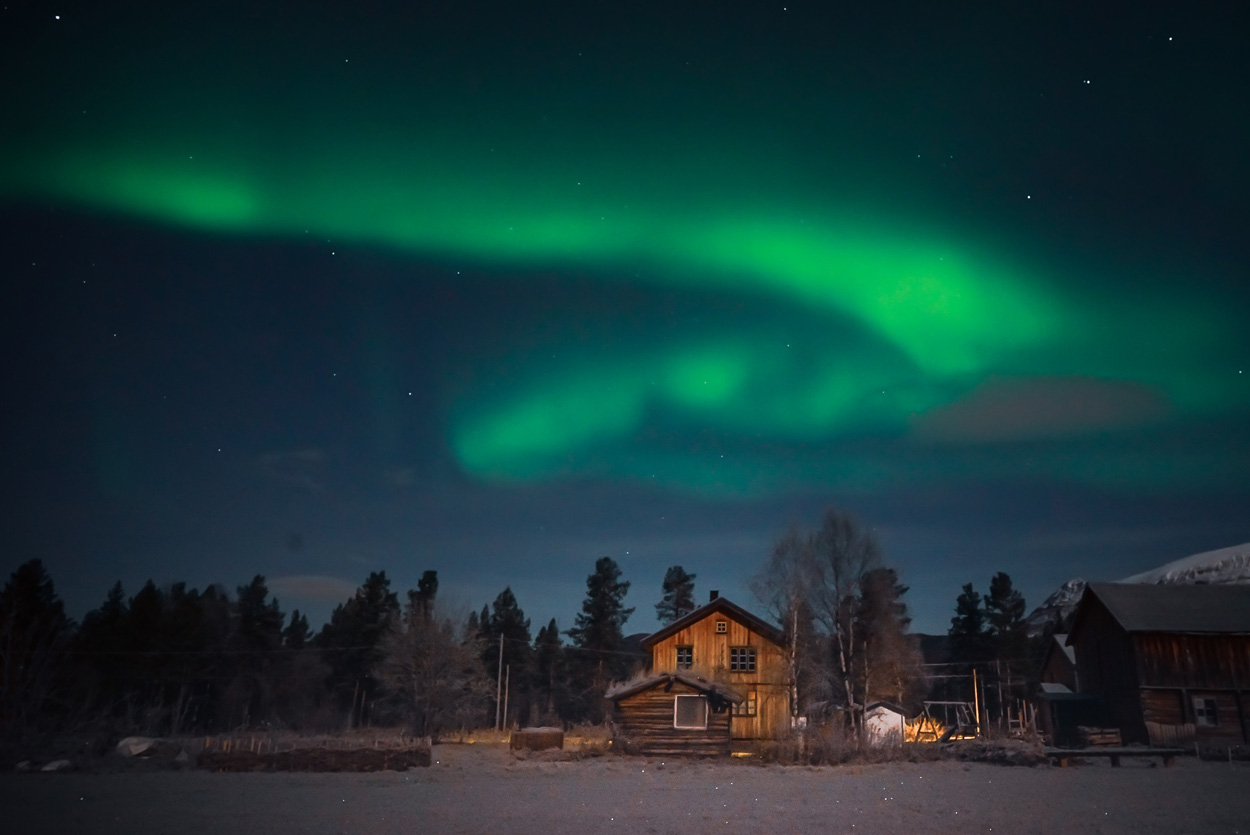 Aurora over the farm