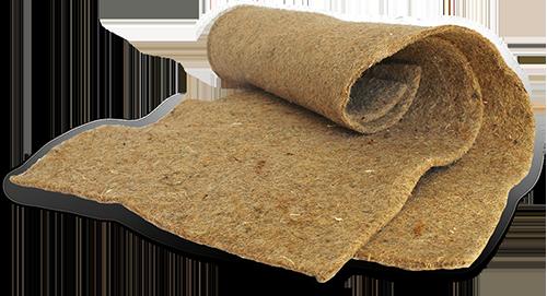 Biopad absorbent pad made from woven kenaf fibers