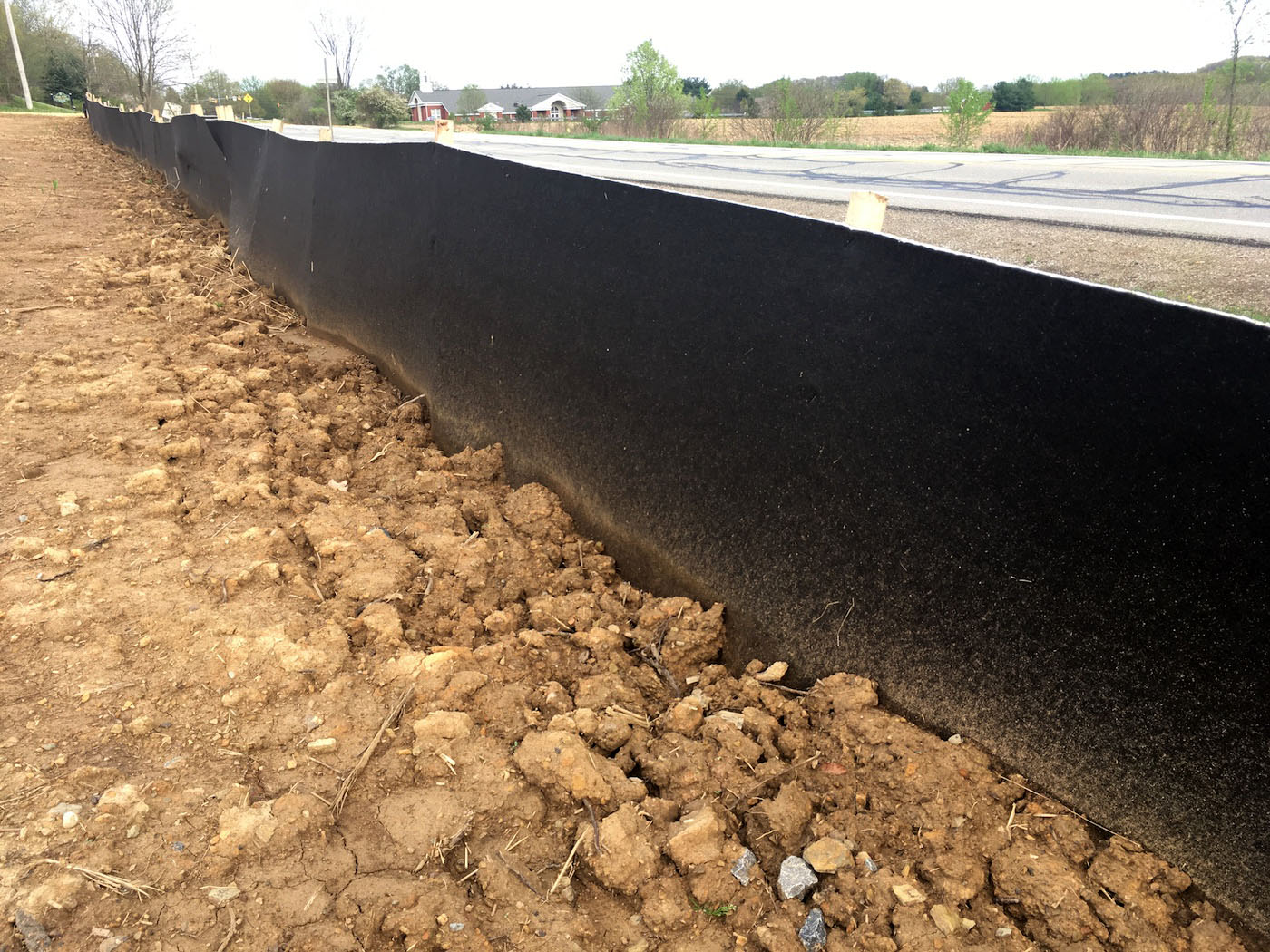 Siltron erosion and sediment control fence