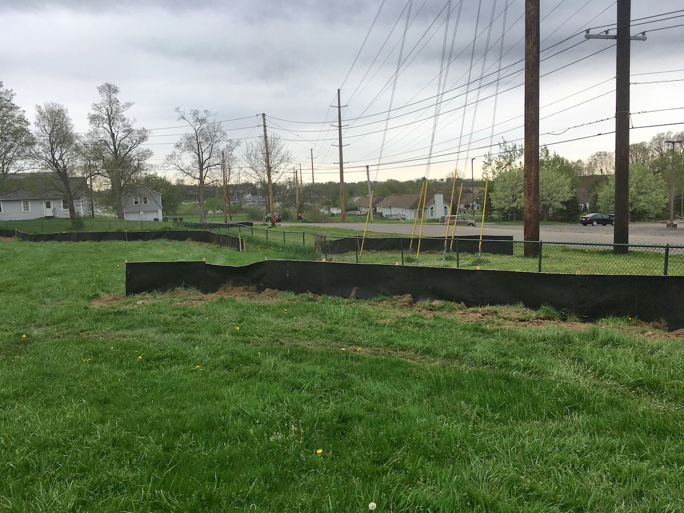 Siltron silt fence being used on roadside