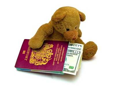 Teddy With Passport