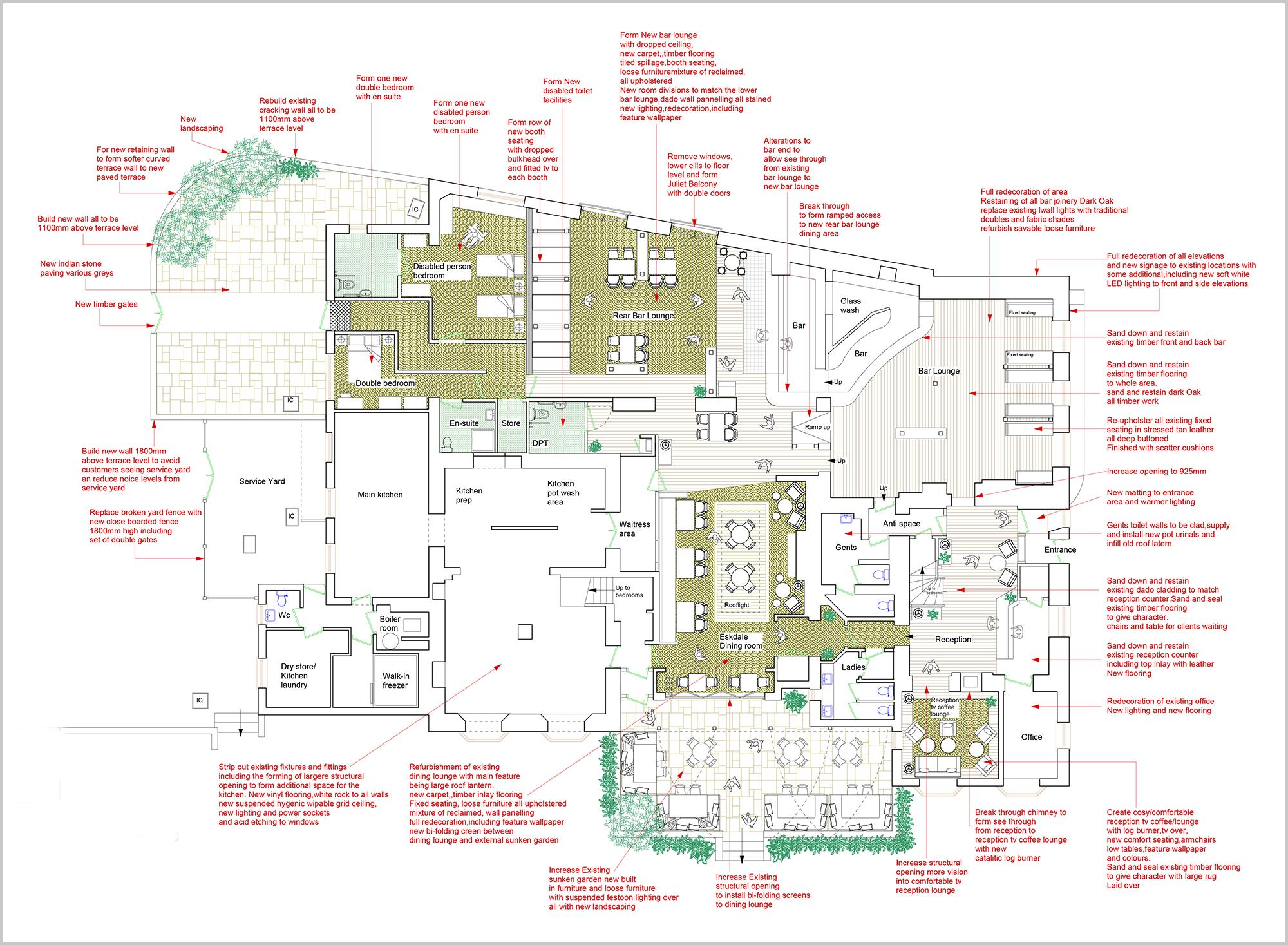 The Bridge Inn Ground Floor Plan