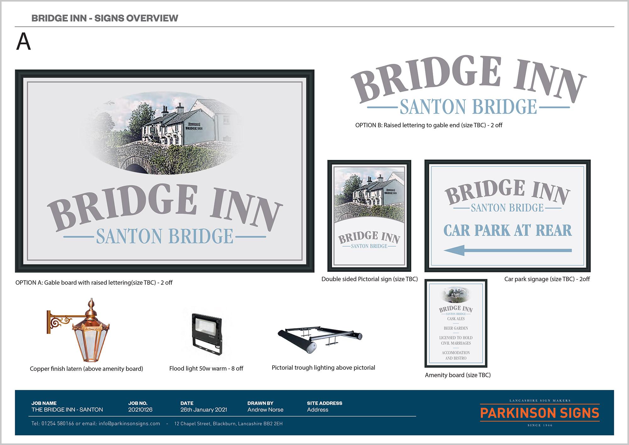 The Bridge Inn Signage Design Option 1