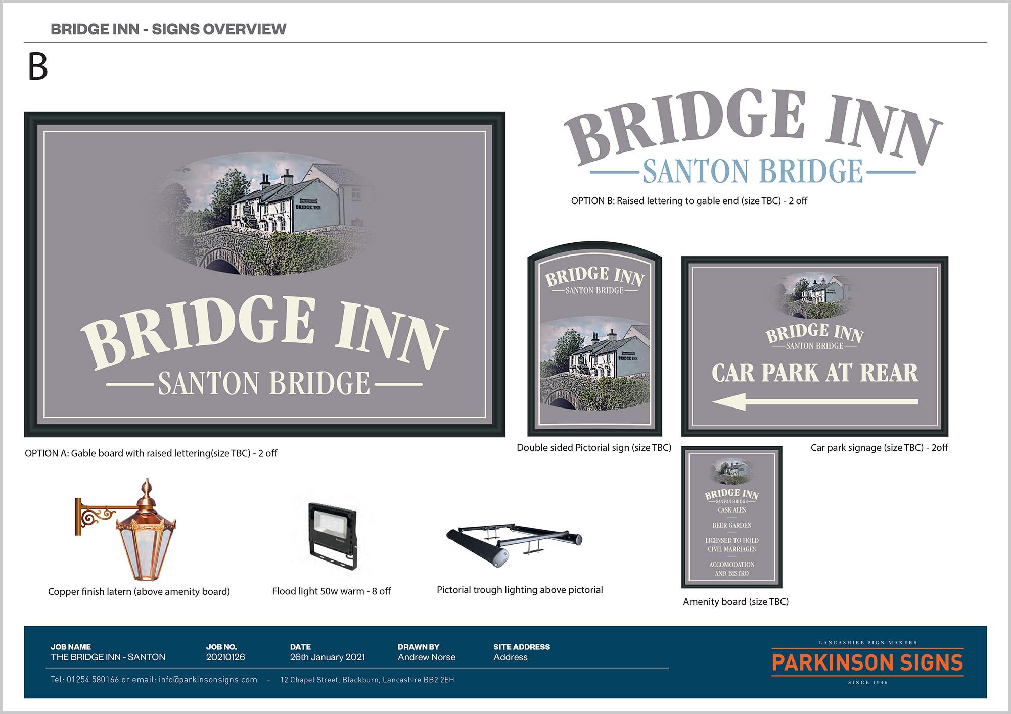 The Bridge Inn Signage Design Option 2