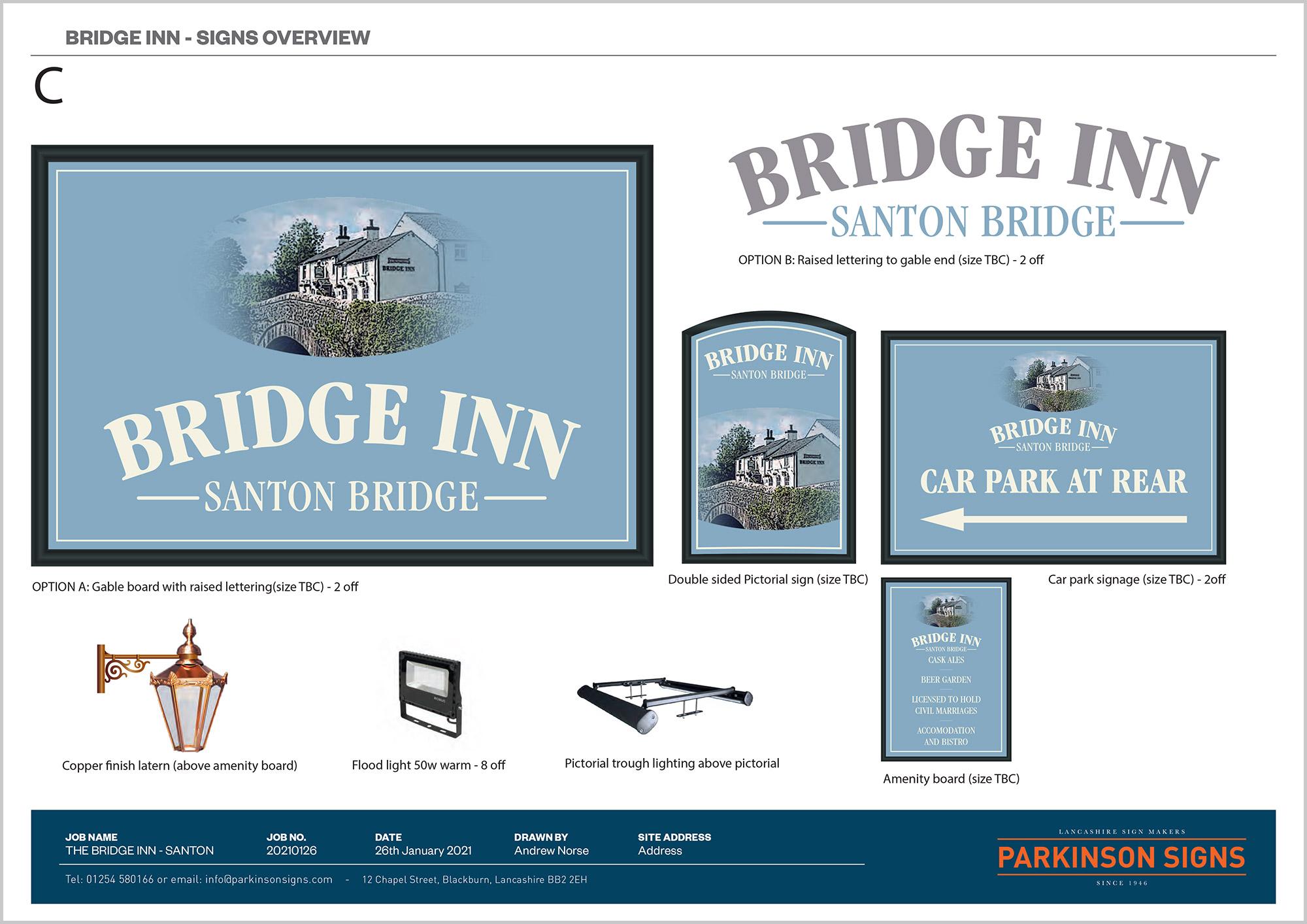 The Bridge Inn Signage Design Option 3