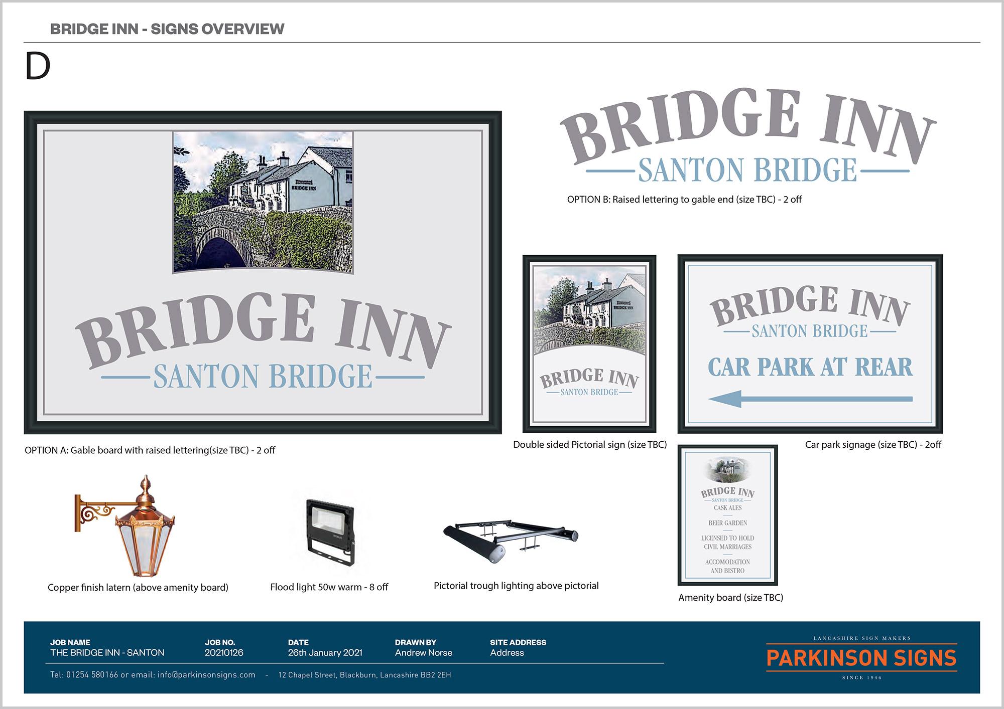 The Bridge Inn Signage Design Option 4