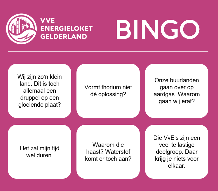 Bingokaart VVE Energieloket Gelderland