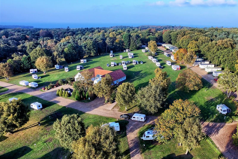 Woodlands Caravan Park - Aerial shot