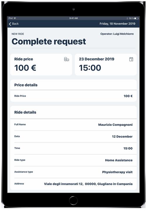 Payment info screen