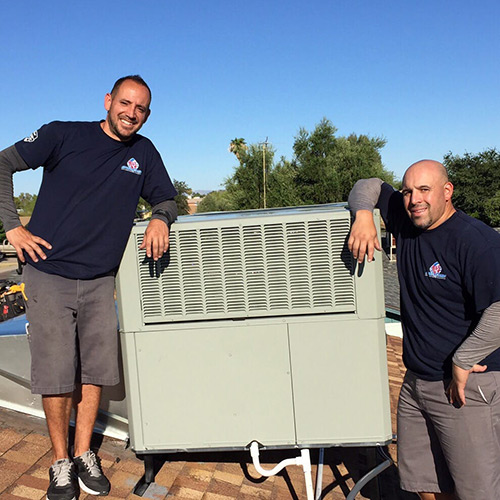 air conditioning maintenance for a rooftop system