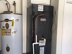 trane hyperion air handler install
