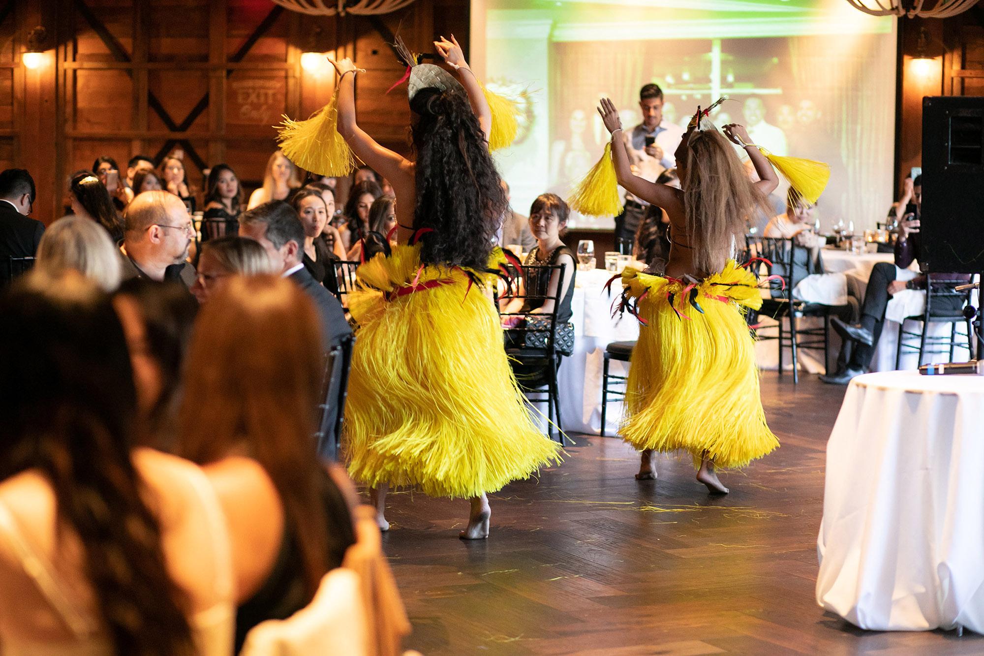 photo of hawaiian dancers
