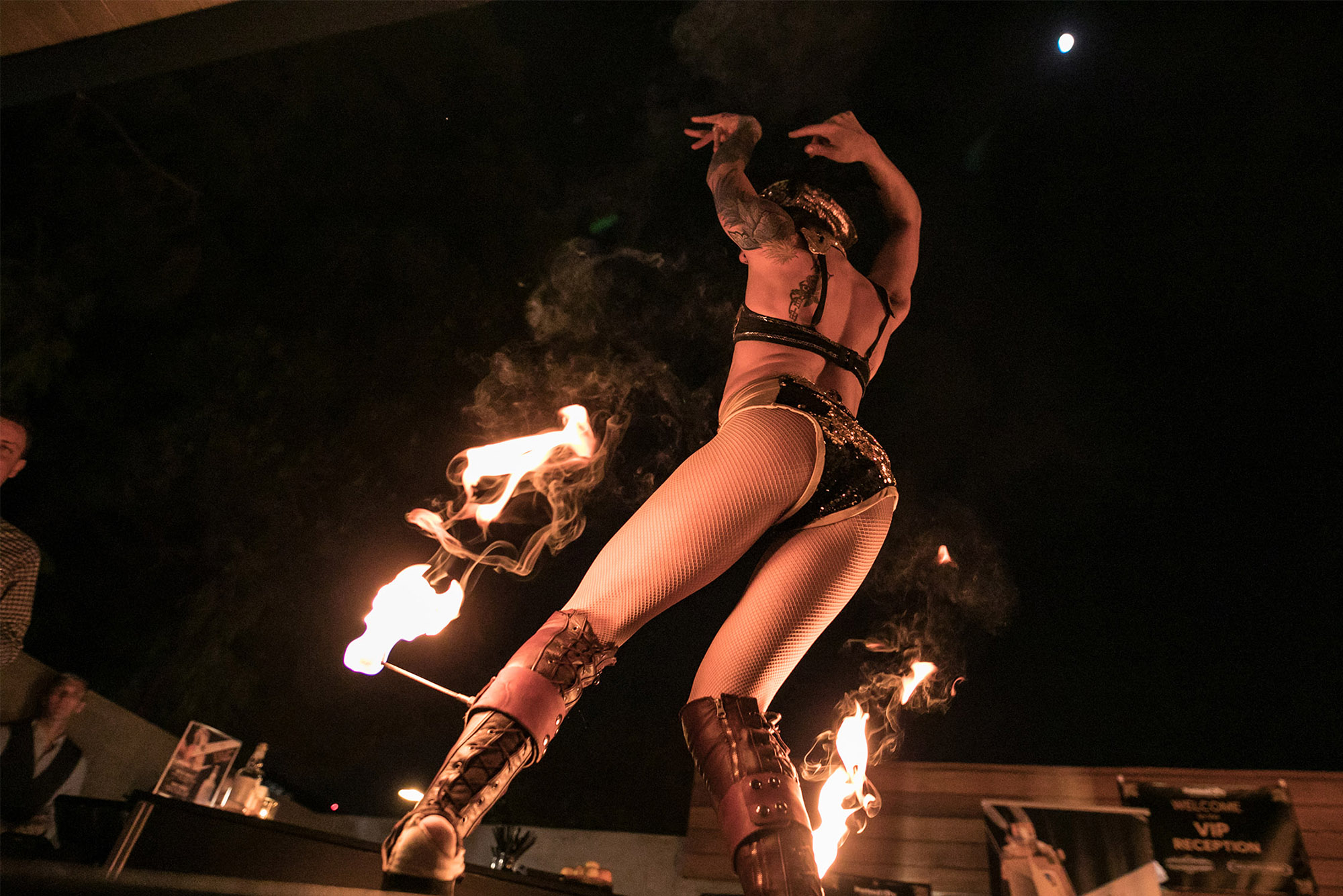 another photo of fire dancers