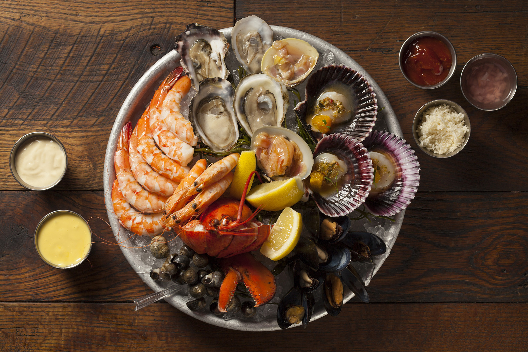chilled shellfish platter