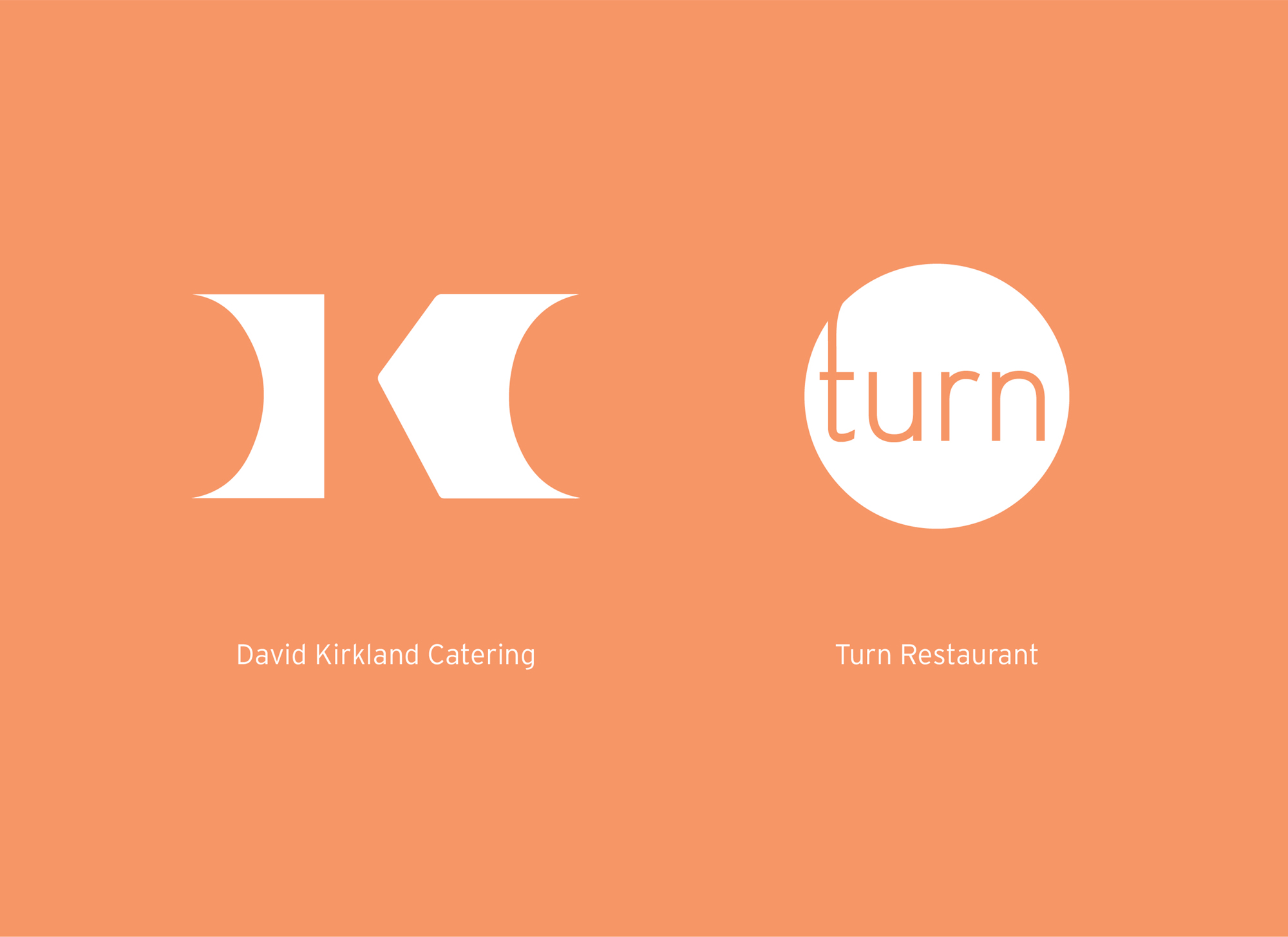 Studiopowell and Turn Restaurant and David Kirkland Catering branding and creative direction