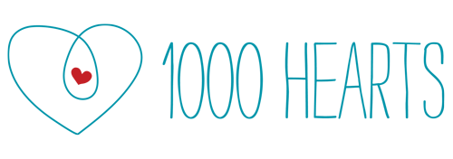 logo for 1000 hearts