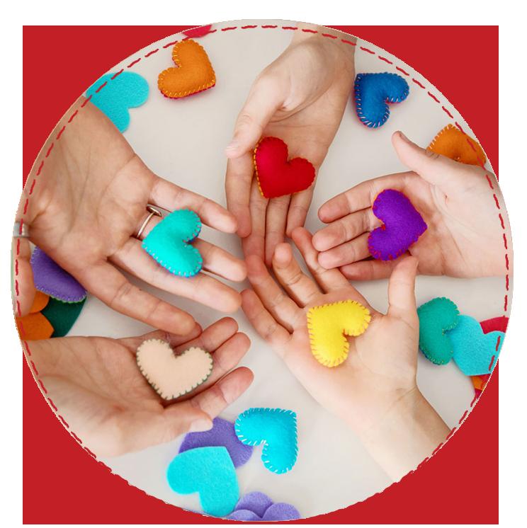 Hands holding a pocket heart