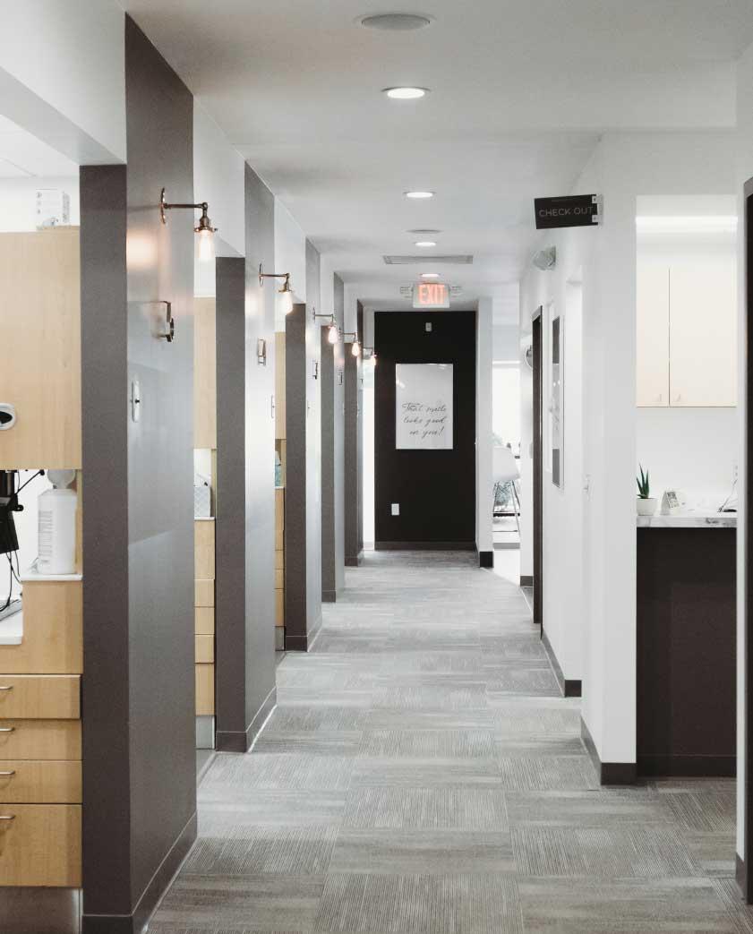 Photo of an office hallway