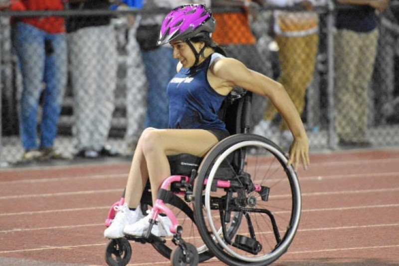 Isabella Matos, wheelchair track athlete