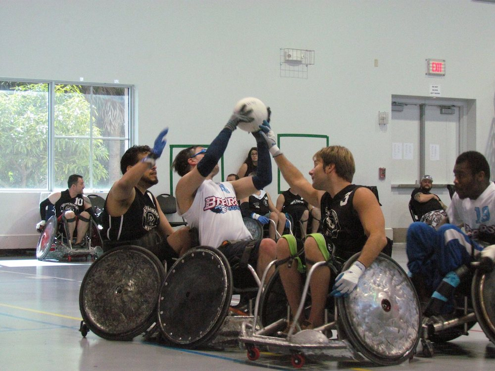 Endless possibilities wheelchair basketball team playing