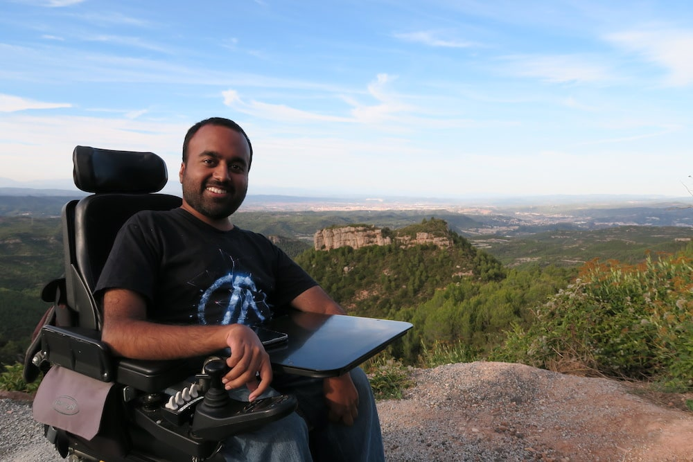 Srin from Accomable exploring Monserrat by finding accessible accomadations
