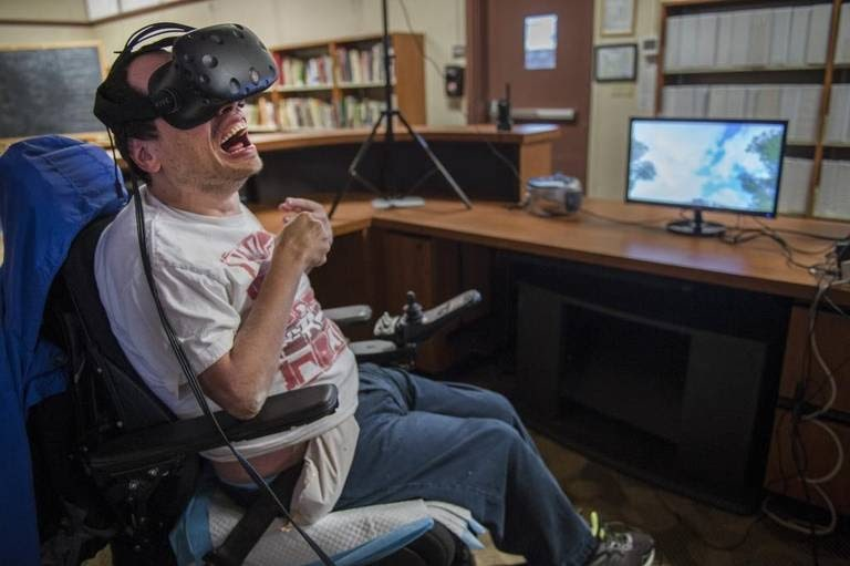 Virtual reality benefits gamers with disabilities