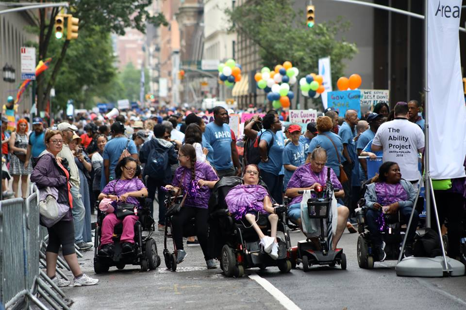 People participating in Disability Pride NYC
