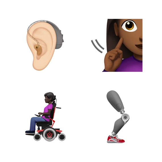 Disability-themed emoji.