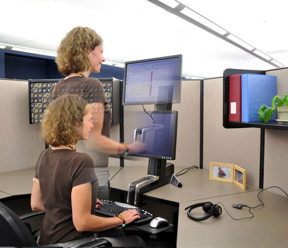 Accessible desk options promote inclusion.