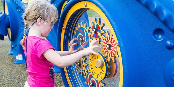 Children with special needs enjoy sensory play.