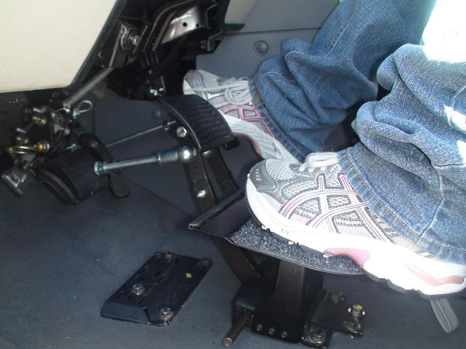 Pedals and steering options can be adaptive.