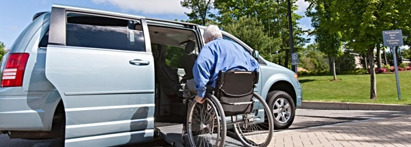 Vans can be adapted for drivers with disabilities.