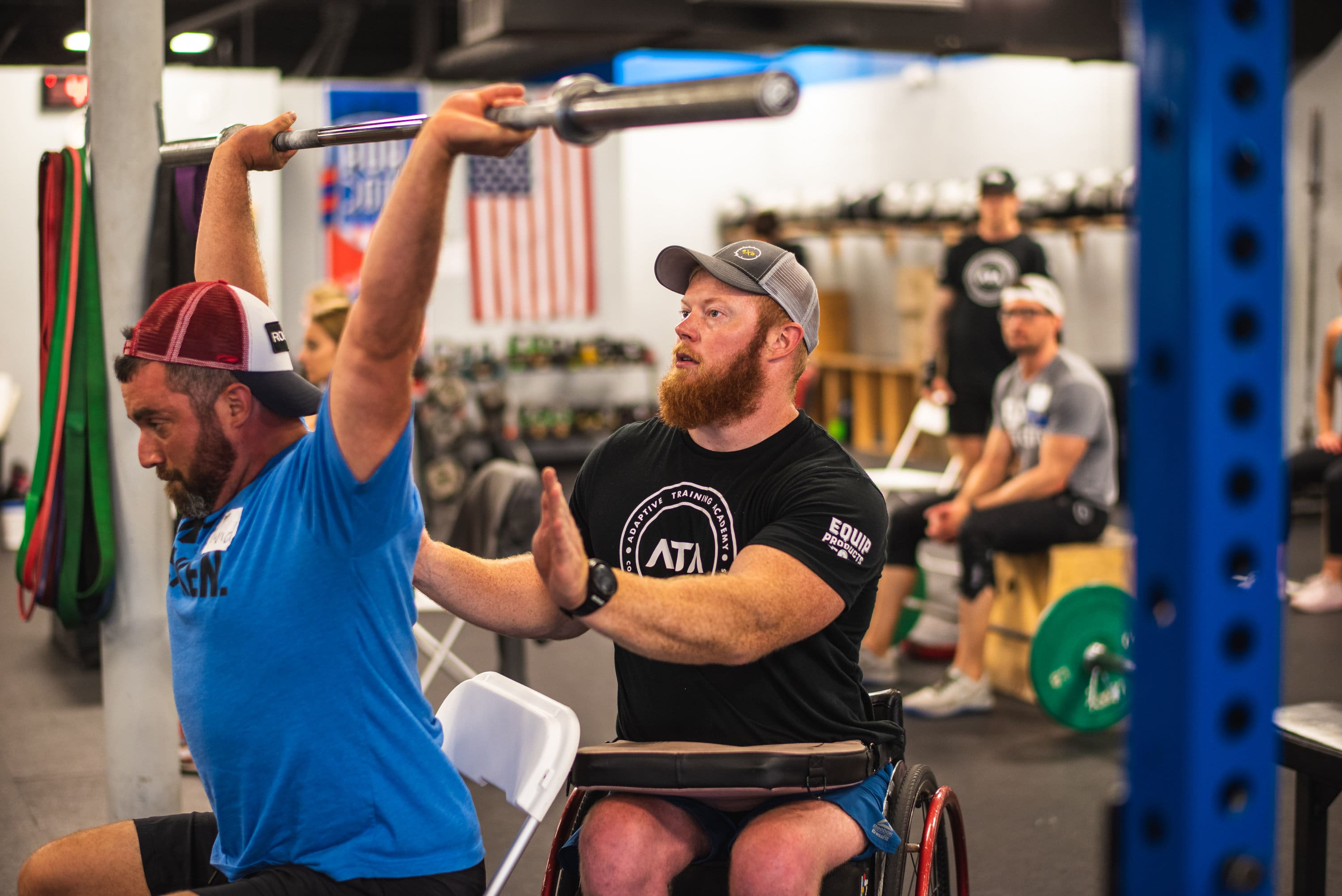 Adaptive coach Kevin Ogar trains abled-bodied and adaptive athletes.