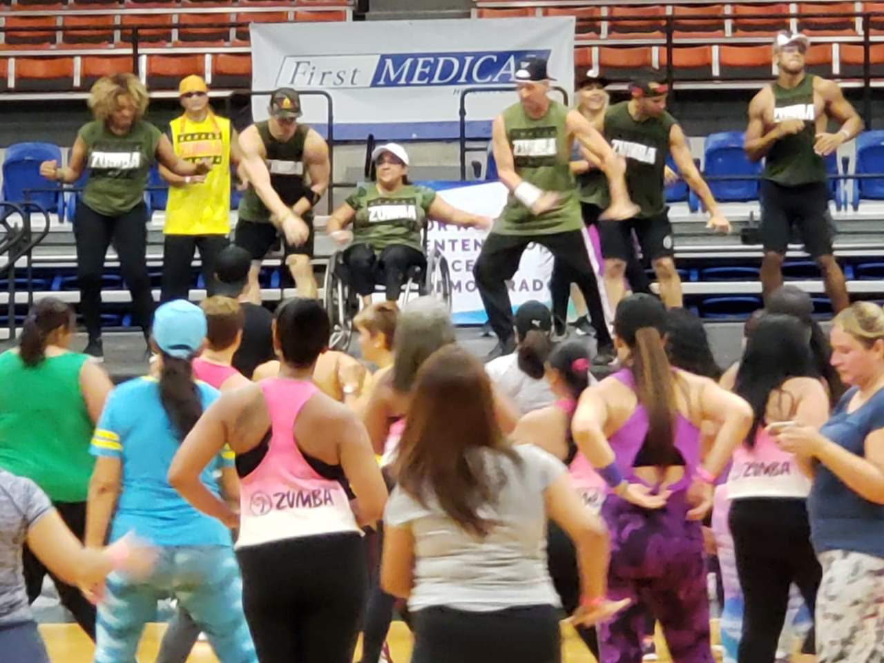 Wheelchair users can participate in Zumba