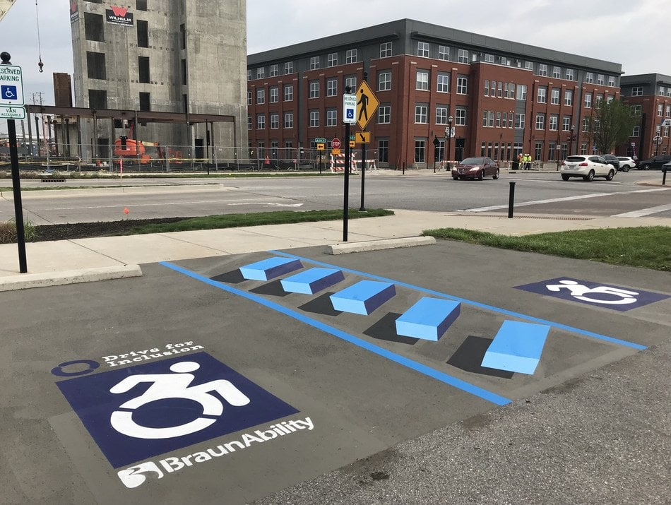 3D accessible parking can combat illegal parking.