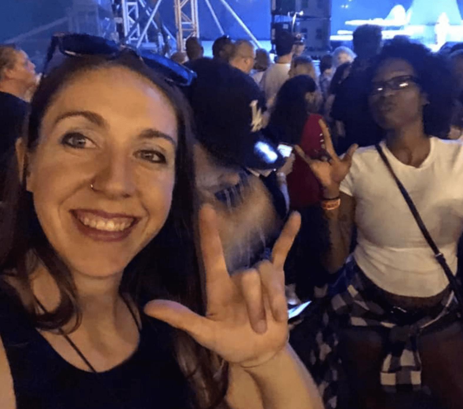 Darci Zook enjoys concert thanks to ASL interpreters