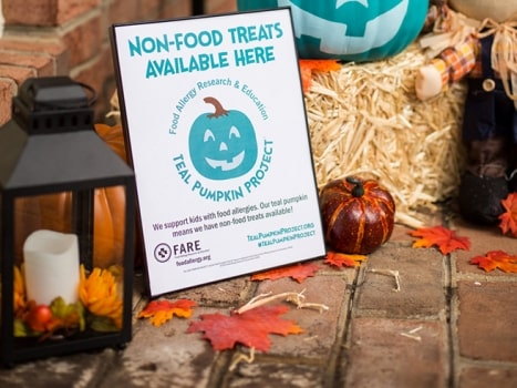 The Teal Pumpkin Project promotes food allergy awareness.