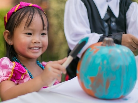 Paint or buy a teal pumpkin to support Halloween inclusion.