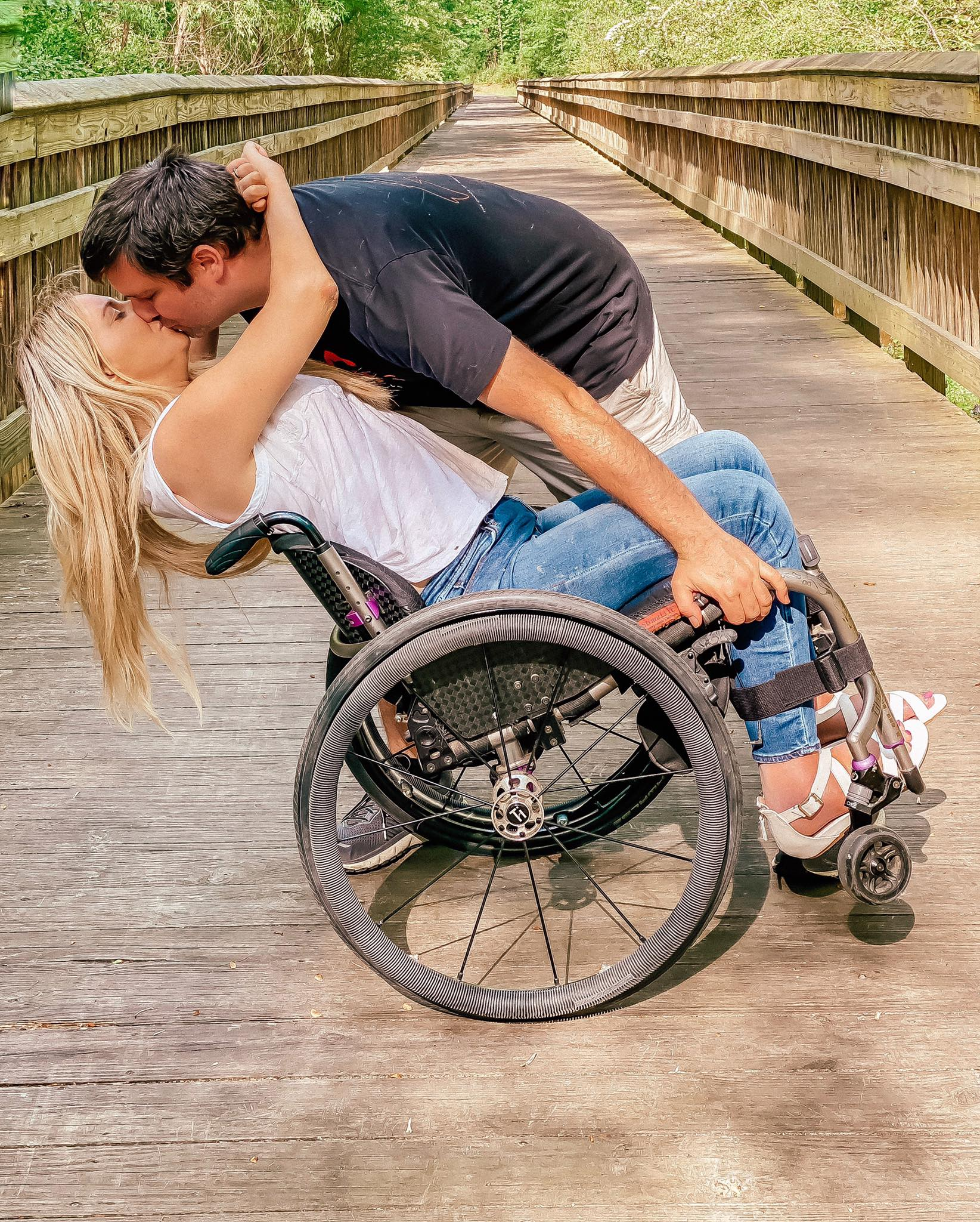 Rachelle Chapman's wedding to Chris was delayed after she suffered paralysis from an accident at her bachlorette party.