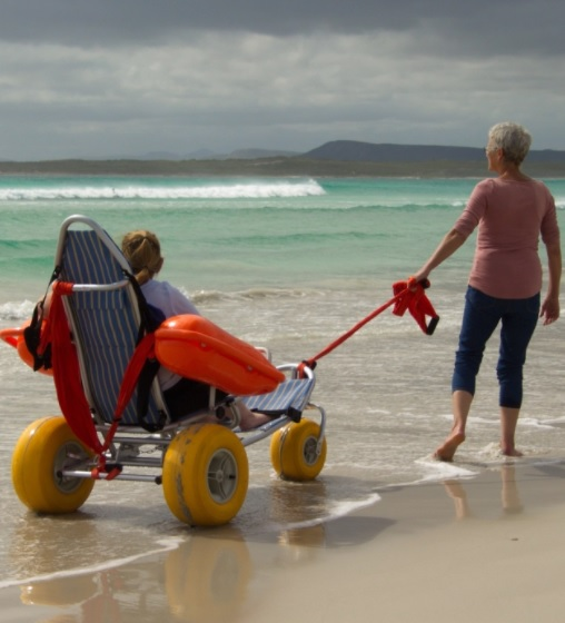 Airbnb features accessible beach fun and other accessible experiences.