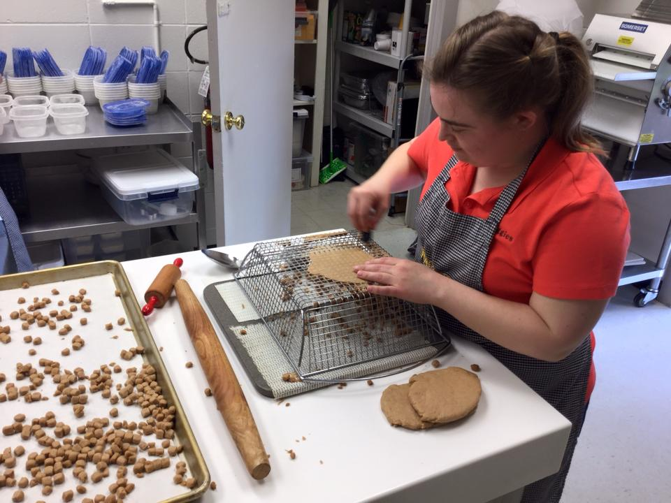 Two moms launch dog treat business in honor of daughters with disabilities.