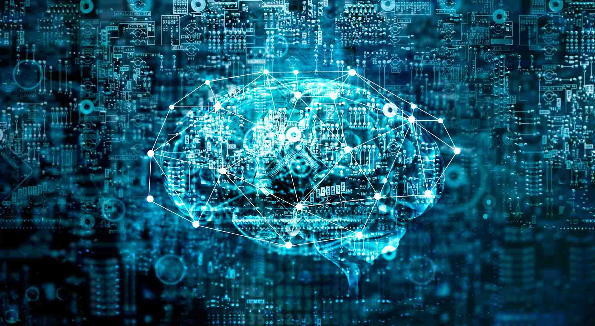 Illustration of brain using code