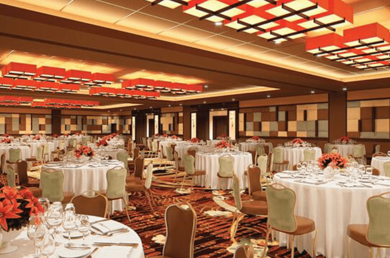 The newly constructed Osage Casino in Tulsa will feature this new banquet room, which will be available for special events.